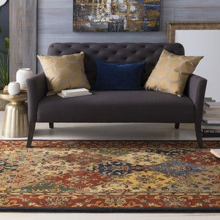 Hand-Tufted Mollie Traditional Border Rug (8' x 11')