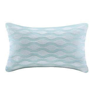 Harbor House Maya Bay Blue Cotton Oblong Throw Pillow