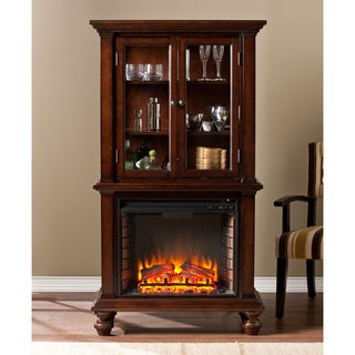 Harper Blvd Leighlin Mahogany Fireplace Tower Free
