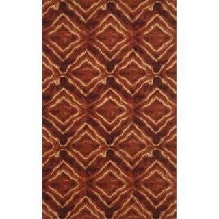 Liora Manne Diamonds Burgundy Indoor Rug (5' x 8')