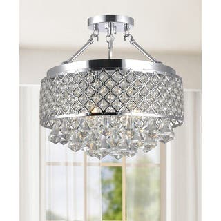 Candice Chrome and Crystal Semi Flush Mount Chandelier|https://ak1.ostkcdn.com/images/products/9466703/P16649629.jpg?impolicy=medium