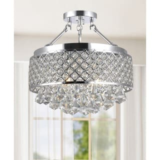 Buy flush mount lighting online at overstock our best lighting silver orchid taylor chrome and crystal semi flush mount chandelier aloadofball Gallery