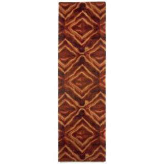 Liora Manne Diamonds Burgundy Indoor Rug (2'3 x 8')