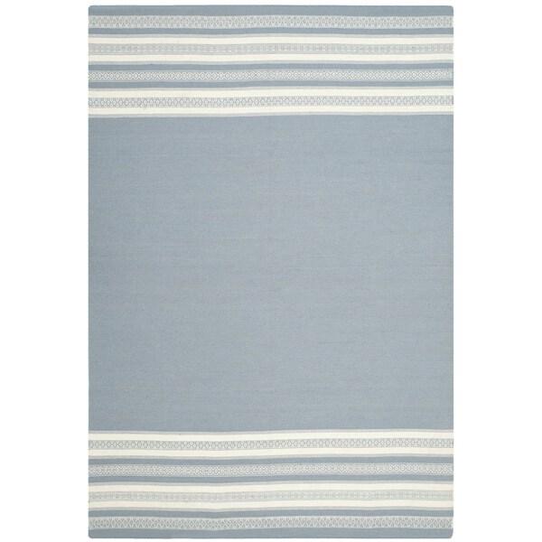 Safavieh Hand-woven Dhurries Grey Wool Rug (8' x 10')