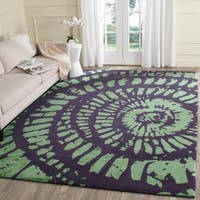 Safavieh Hand-Tufted Capri Lavender/ Sage Wool Rug - 8' x 10'