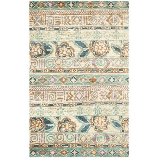 Safavieh Hand-knotted Bohemian Bleach/ Gold Jute Rug - 8' x 10'