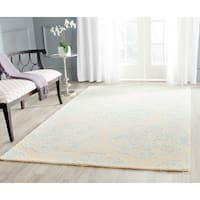 Safavieh Handmade Bella Beige/ Turquoise Wool Rug - 8' x 10'