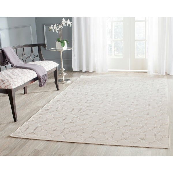Safavieh Hand-woven Dhurries Beige Wool Rug - 8' x 10'