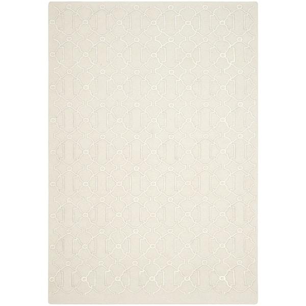 Safavieh Hand-woven Dhurries Beige Wool Rug (8' x 10')