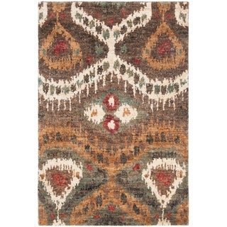 Safavieh Hand-knotted Tangier White Wool/ Jute Rug (5' x 8')