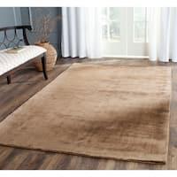 Safavieh Handmade Mirage Modern Tonal Brown Viscose Rug (5' x 8') - 5' x 8'