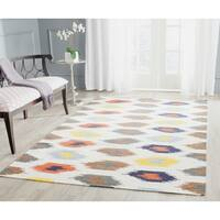 Safavieh Hand-woven Dhurries Ivory/ Multi Wool Rug - 5' x 8'