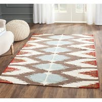 Safavieh Hand-woven Dhurries Multi Wool Rug - 5' x 8'