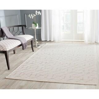 Safavieh Hand-woven Dhurries Beige Wool Rug (5' x 8')