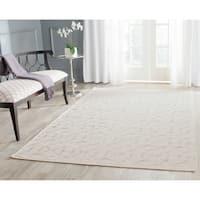 Safavieh Hand-woven Dhurries Beige Wool Rug - 5' x 8'