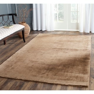 Safavieh Handmade Mirage Modern Brown Viscose Rug (9' x 12')