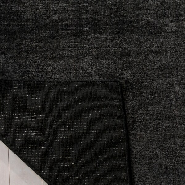 Safavieh Handmade Mirage Modern Tonal Black Viscose Rug - 9' x 12'