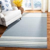 Safavieh Hand-woven Dhurries Grey Wool Rug - 6' x 9'