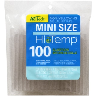 "High Temp Mini Glue Sticks-.28""X4"" 100/Pkg"