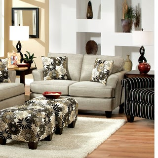 Furniture of America Dix Contemporary Grey Fabric Padded Loveseat