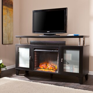 Oliver & James Lismer 60-inch Black Media Fireplace