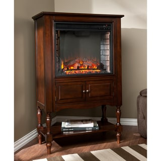 Harper Blvd Leighlin Mahogany Fireplace Tower