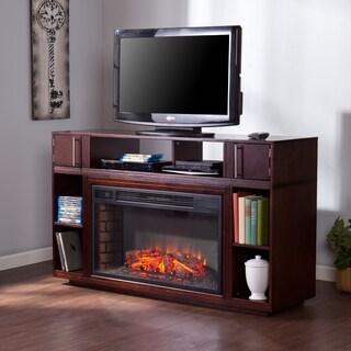 Upton Home Beaumont Espresso Media Fireplace