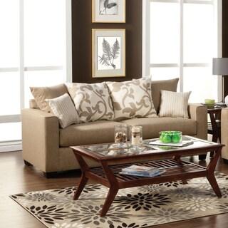 Furniture of America Aizo Modern Linen Sofa