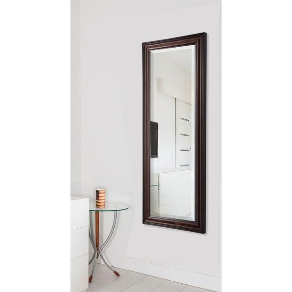 American Made Rayne Dark Walnut 25 x 63-inch Full Body Mirror