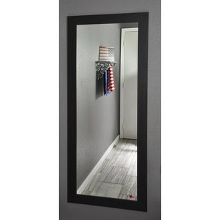 American Made Rayne Black Satin 26 x 64-inch Full Body Mirror