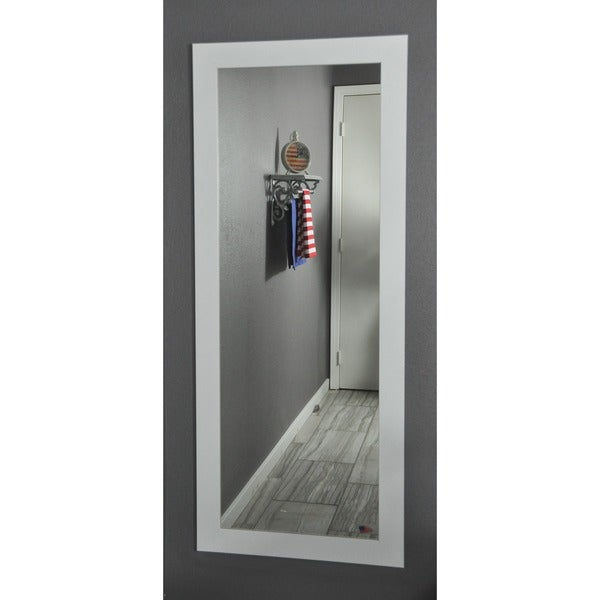 Full Body Wall Mirror american made rayne white satin 26 x 64-inch full body vanity wall