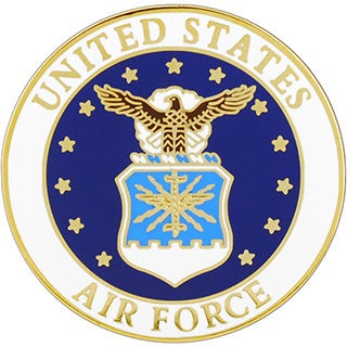 United States Air Force Round Logo Pin