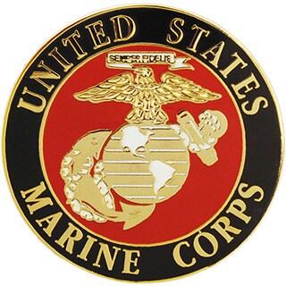 United States Marine Corps Round Logo Pin