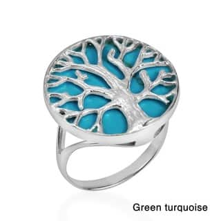 Handmade Mystical Tree of Life Stone Inlay .925 Sterling Silver Ring (Thailand)|https://ak1.ostkcdn.com/images/products/9467015/P16649863.jpg?impolicy=medium
