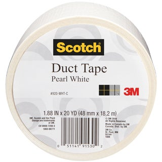 Scotch Solid Color Duct Tape 1.88:x20yd-Pearl White