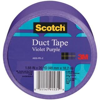 Scotch Solid Color Duct Tape 1.88:x20yd-Violet-Purple