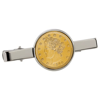 American Coin Treasures Gold-Plated Liberty Nickel Silvertone Tie Clip