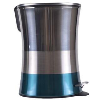 5 Liter Shiny Matte Color Block Bottom Step Waste Basket