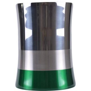 5-liter Shiny Matte Color Block Bottom Waste Basket (Option: Green)