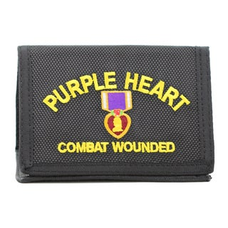 Purple Heart Logo Heavy Duty Nylon Wallet