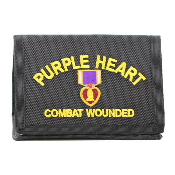 Purple Heart Logo Heavy Duty Nylon Wallet
