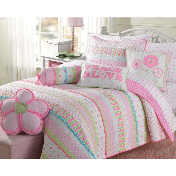 Greta Pastel Cotton 3 Piece Quilt Set