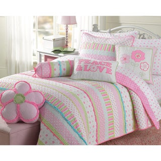 Cozy Line Greta Pastel Cotton Quilt Set - Thumbnail 0