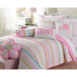 Silver Orchid Bouber Pastel Cotton Quilt Set (2 options available)