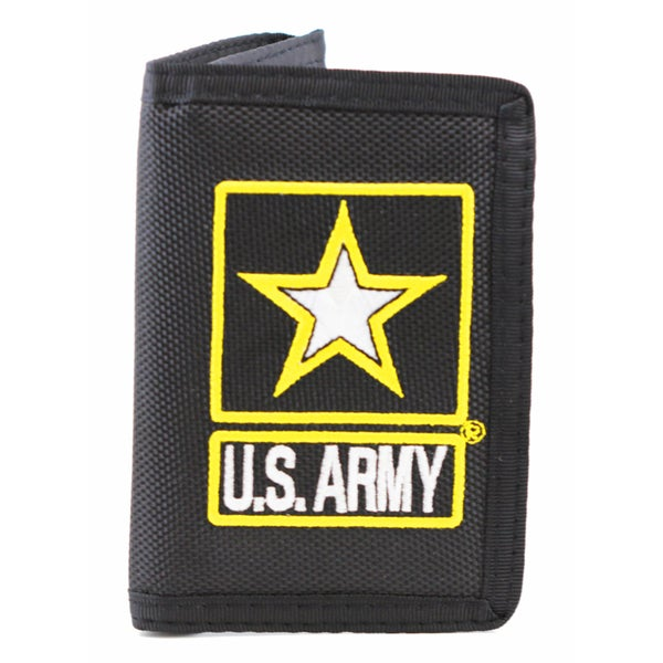 Shop Us Army Logo Trifold Wallet On Sale Free Shipping