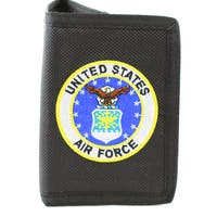 US Air Force Insignia Trifold Nylon Wallet