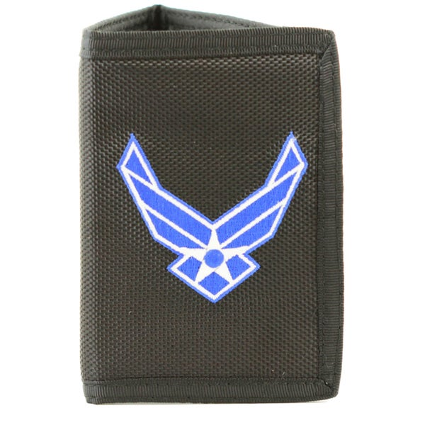 US Air Force Wings Trifold Nylon Wallet