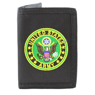 US Army Insignia Trifold Nylon Wallet