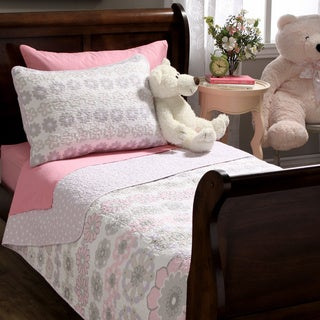 Lola Floral Cotton Quilt and Sham Set (Option: Twin)