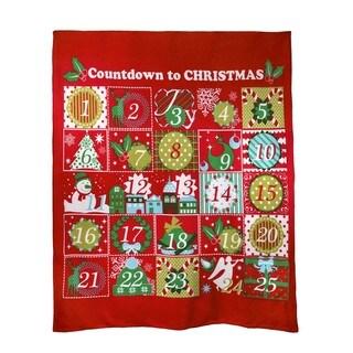Christmas Advent Calender Fleece Throw Blanket